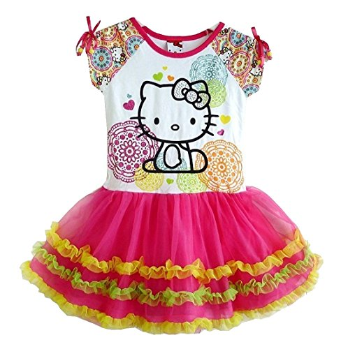 SOPO Hello Kitty Little Toddler Dress Baby Girls Tutu Dress 3T Pink - Hello Kitty Pink Tutu