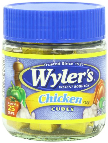 Wyler's Instant Chicken Bouillon Cubes (3.25 oz Jars, Pack of 8)