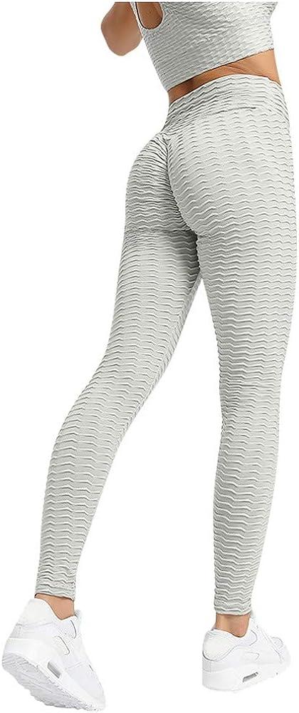 URSING Damen Sport Leggings Yoga Fitness Hose Trainingsanzug ModeLange Sporthose Jogginghose Stretch Workout Fitness Anti-Cellulite Butt Lift Hosenanzug