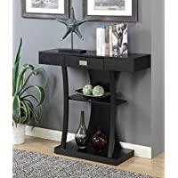 Convenience Concepts 111960BL Newport Console Table Harri, Black