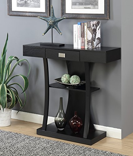 Newport Console - Convenience Concepts 111960BL Newport Harri Console Table, Black