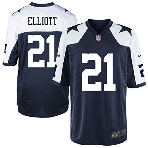 (Dallas Cowboys Youth Ezekiel Elliott #21 Nike Game Replica Throwback Jersey (blue/white, youth xl 18-20))