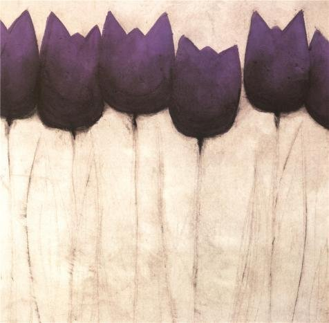 Oil Painting 'Purple Tulip', 12 x 12 inch / 30 x 31 cm , on High Definition HD canvas prints is for Gifts And Game Room, Hallway And Study Room - Eyeglasses Detroit Area