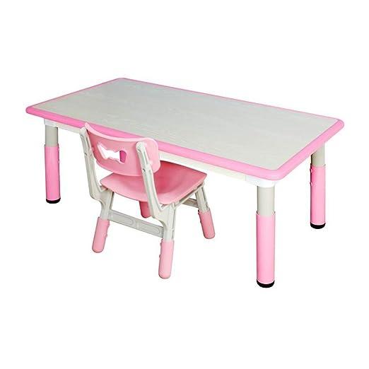 XUERUI Mesas Mesa Sillas Conjunto, Niños Mueble, Equilibrado ...