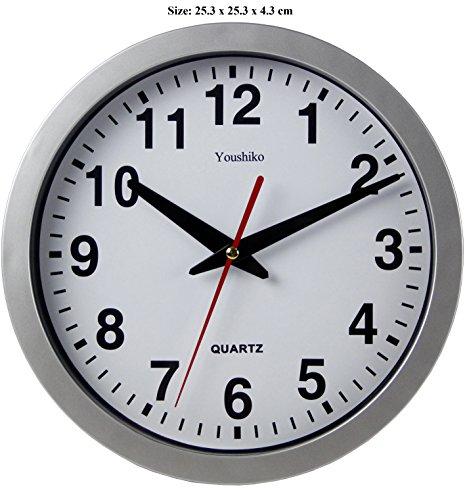 Reloj digital de pared con radio control., negro, 23 x 3 x 18cm: Amazon.es: Electrónica
