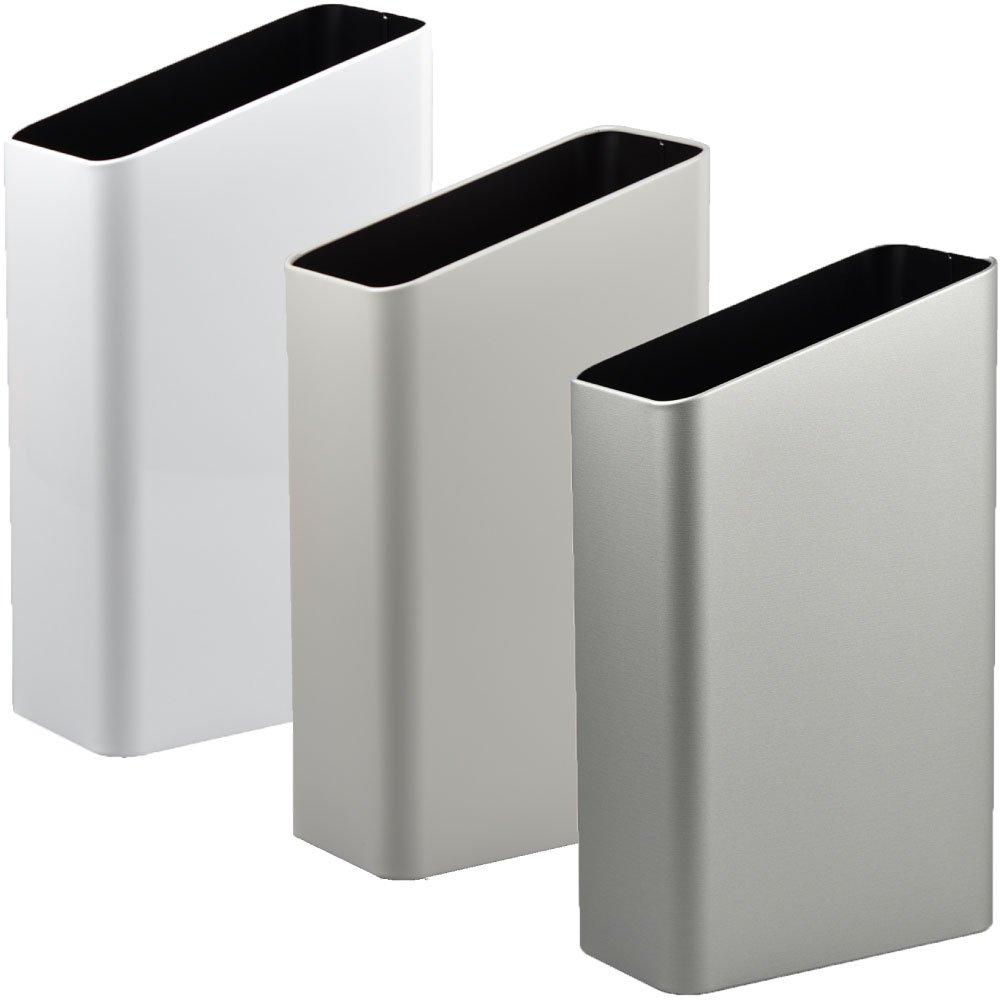 ぶんぶく サイドバケット 大 全9色の中から選べる3個セット ゴミ箱 ごみ箱 ダストボックス おしゃれ 日本製 (ホワイト×グレー×シルバーメタリック) B075GHNH7X ホワイト×グレー×シルバーメタリック ホワイト×グレー×シルバーメタリック