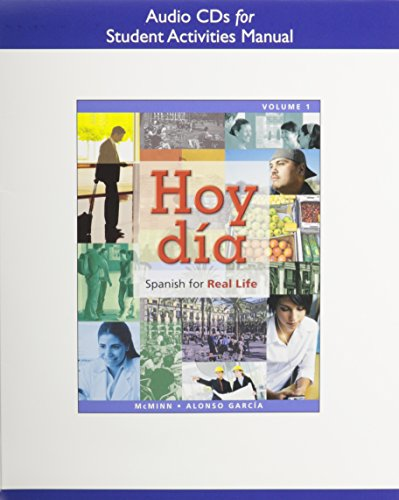 Audio CDs for Student Activities Manual for Hoy dia: Spanish for Real Life, Volume 1