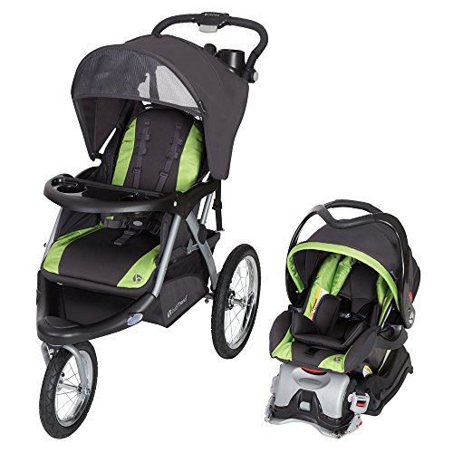 Baby Trend Expedition GLX Jogger Travel System, Flex Loc 32lb Car Seat, Peridot