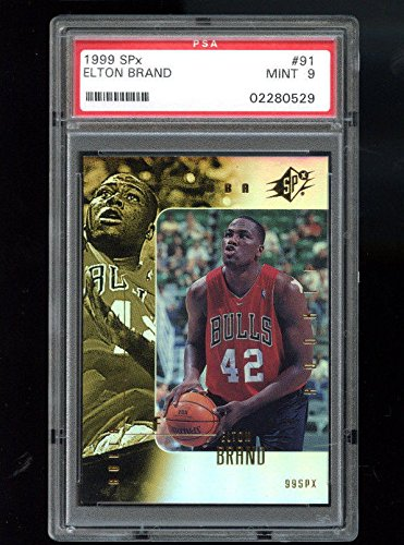1999-00 SPx Upper Deck #91 Elton Brand ROOKIE RC PSA 9 Graded Basketball Card