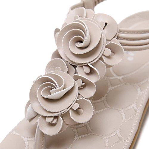 da Spiaggia Albicocca Eleganti Pantofole Puro Boemia Sandali Colore Pantofole 1 Semplice Donna Estivi Ragazze Scarpe Ciabatte Basse Infradito Donna CARETOO gx6RqWZ