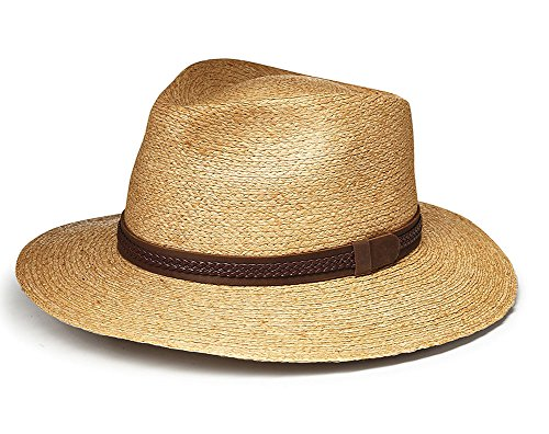 Tilley R11 Raffia Fedora Tea Stained L by Tilley