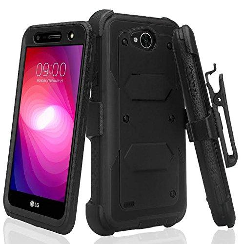 online store 818a2 ce3bd LG Fiesta 2 Case, LG X Power 2 Case, LG K10 Power Case, LG Fiesta Case, LG  X Charge Case [Shock Proof] Heavy Duty Belt Clip Holster, Full Body ...