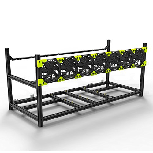 Aluminum GPU Mining Case Rig Open Air Frame For ETH/ETC/ ZCash (8 GPU) by Kyerivs (Image #6)