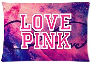 LarryToliver You deserve to have 2 way cloth 20 X 30 inch pillowcase Love Pink Starry Eight best pillow cases(one side)