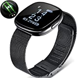 Igrosso Fitness Tracker Heart Rate Monitor - Smart Bracelet Waterproof Swimming Sport Wristband - Blood Pressure Monitor - Smart band Pedometer Calorie Smart Watch for Apple IOS Android phone (M-Black)