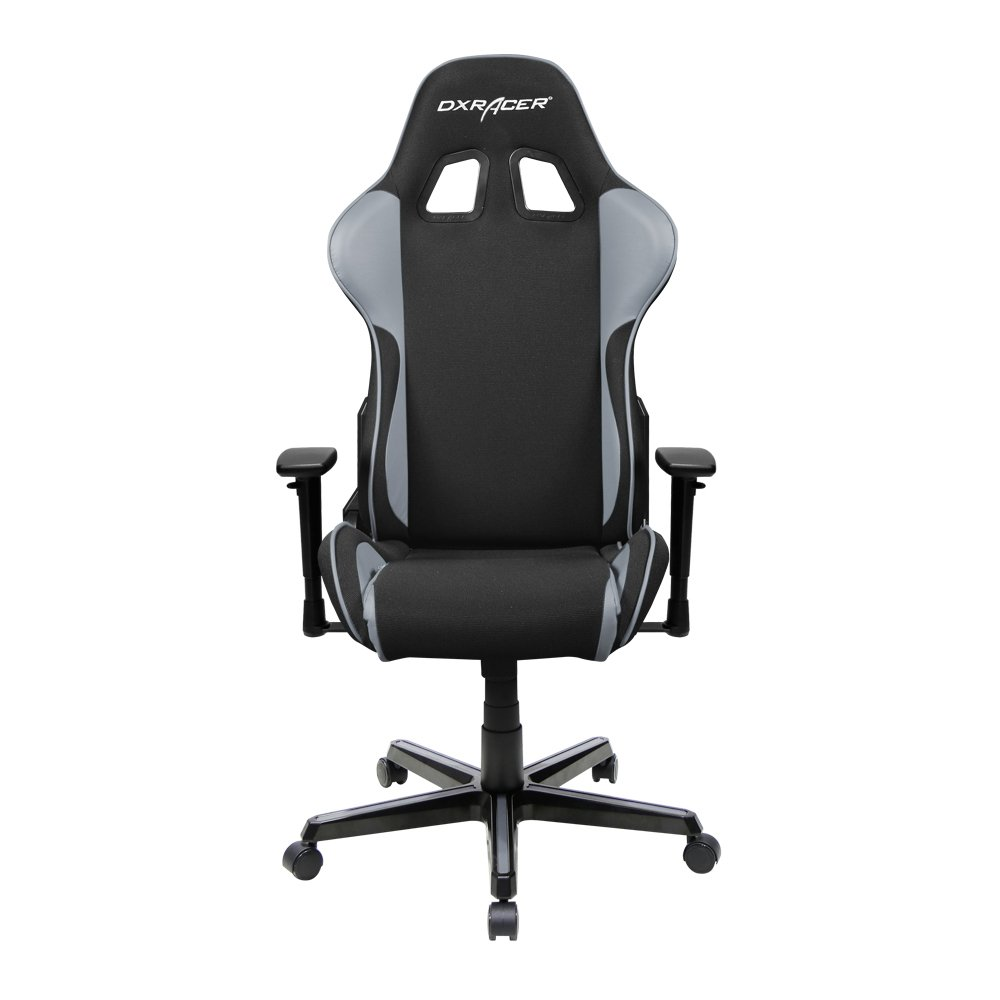 DXRacer Formula Series DOH/FH11/NG Newedge Edition Racing Office Chair Recliner Esport ESL Dreamhack PC Gaming Chair Ergonomic Computer Fabric Chair Rocker Comfortable Chair With Pillows (Black/Grey)