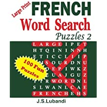 Large Print FRENCH Word Search Puzzles 2