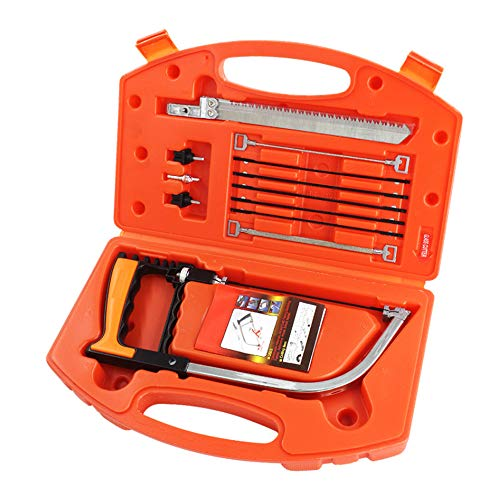 Handsaw Set, 12 in 1 Magic Universal Hand Saw Kit with Storage Case for Cutting Wood, Plastic, PVC Pipe