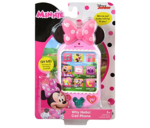 (Mozlly Multipack - Disney Minnie Why Hello There! Pink Cell Phone Talking Play Phone First SmartPhone (Pack of 2))