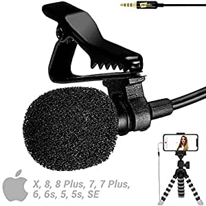 YouMic Lavalier Microphone for iPhone - Great Mic for iPhone 7, 8, X - iPhone External Lavalier Microphone - ASMR Microphone for iPhone 8, 7, 6, X - iPad Microphone