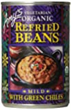 Amy's Vegetarian Organic Refried Beans, Mild with Green Chiles, 15.4 Ounce (Pack of 12)