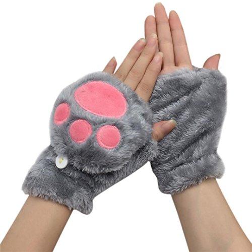 e-scenery-women-plus-keep-warm-gloves-velvet-thickening-half-finger-flip-gloves-gray