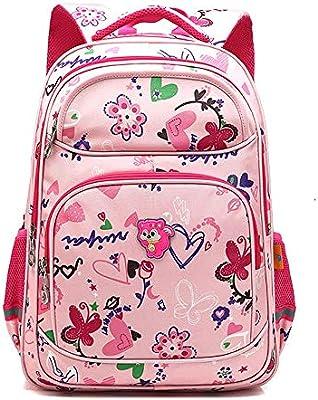 DS-mochila escolar Mochilas - Mochilas escolares para niños y para mujeres Escuela primaria Mochila para princesas de 6 a 12 años Impermeable Gran capacidad ...