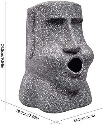 Resina Caja para Pañuelos Estatua de Piedra Caja de Pañuelos de Papel Moai Gris Dispensador de Pañuelos Ideal para Oficina Hogar despacho o Dormitorio, Gris,H24.5xW19.2xL14.5cm: Amazon.es: Hogar
