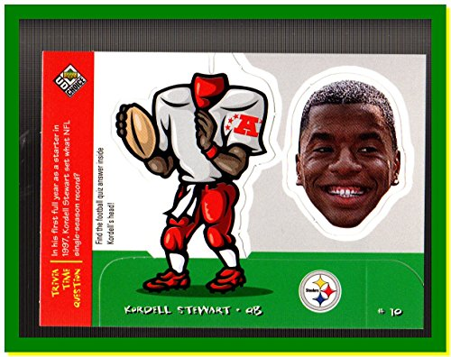 (1998 UD Choice Mini Bobbing Head #M22 Kordell Stewart PITTSBURGH STEELERS)