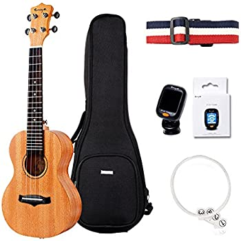 Amazon Enya Kutma Tenor Mahogany Ukulele Set With Gig Bag Tuner