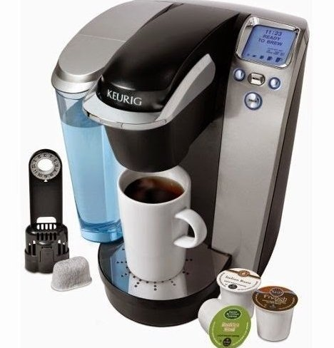 Keurig B70 (Keurig K75 Platinum Single-Cup Home-Brewing System with Water Filter Kit, One Size, Silver/Platinum)