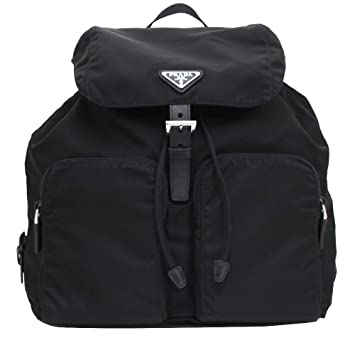 33b896e95788 Amazon.com | Prada Zainetto Unisex Black Tessuto Nylon Backpack Rucksack  1BZ005 | Casual Daypacks