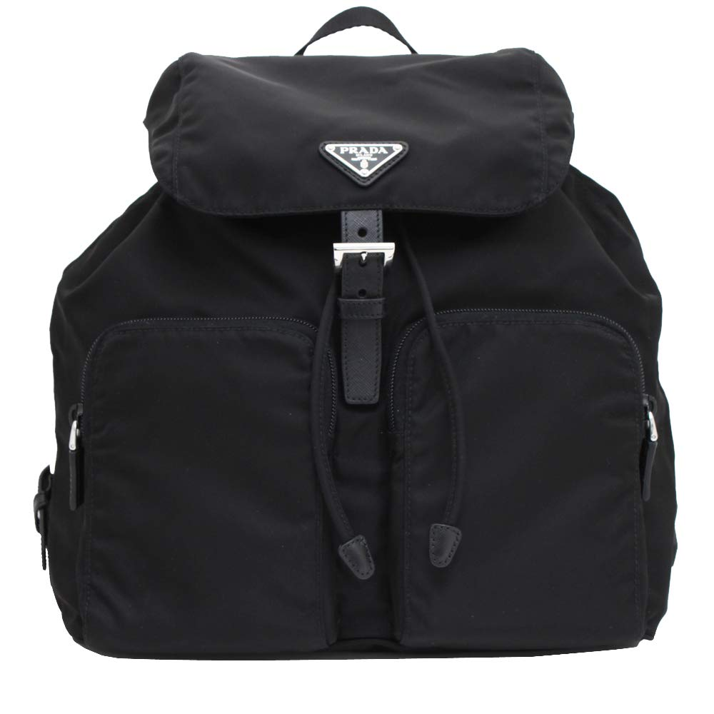 Image of Prada Zainetto Unisex Black Tessuto Nylon Backpack Rucksack 1BZ005 Luggage