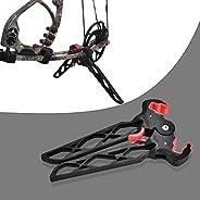 Tbest Archery Bow Stand Rack Folding Portable Compound Bow Clamp Kick Stand Holder Leg Rack Bracket Long/Short