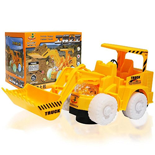 Qiyun Electric Excavator/Bulldozer Model Toy with Flashing Light Novelty Toy Cars with Universal Wheels Gifts for Kids - Merced Mall Stores