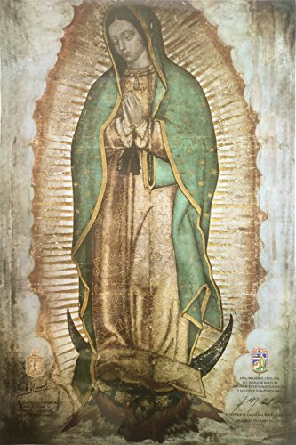 Authorized copy of Our Lady of Guadalupe Print Large/ Virgen de Guadalupe poster