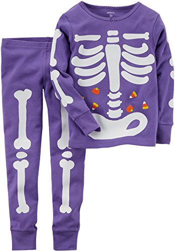 65a128b2c Carter s Baby Girls  Glow-in-the-dark Halloween Pajamas (18 Months ...