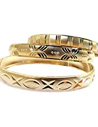 GIRLS GOLD BANGLE BRACELETS SIZE SMALL, MEDIUM & LARGE, BABY, INFANT, GIRLS, CHILD
