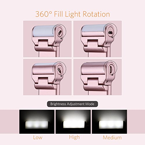 mpow bluetooth selfie stick with 360 degree led fill light import it all. Black Bedroom Furniture Sets. Home Design Ideas