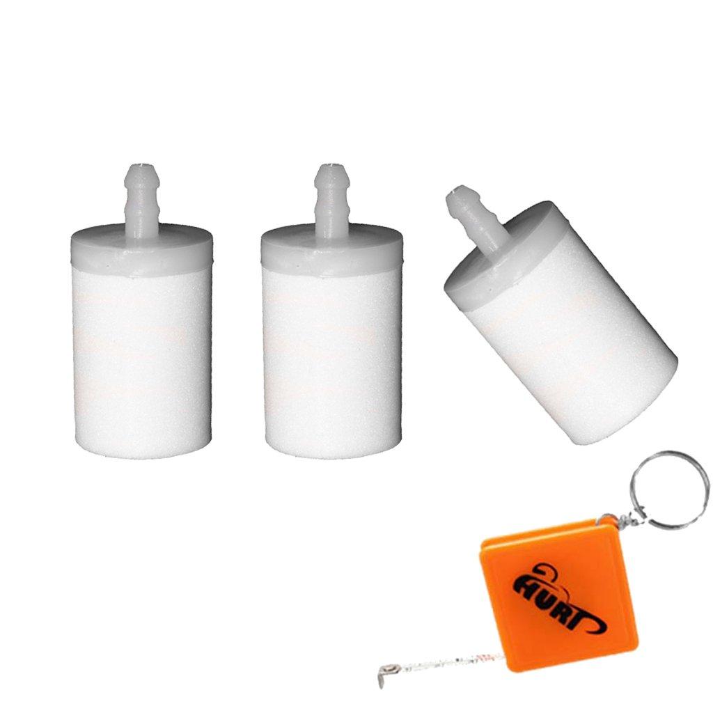 HURI 3x Benzinfilter passend für Motorsäge Husqvarna 36 40 41 42 45 50 51 61 242 254 257 Kraftstofffilter # 5034432-01