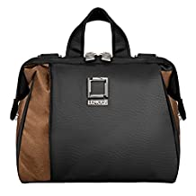 Lencca Olive Collection Carrying Bag for Nikon D5500 / D810A / D7200 / D750 / D810 / D4s / D3300 / Df / D5300 / D610 / D7100 Digital SLR Cameras (Black & Copper)