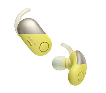 Sony WFSP700NB Cuffie In-ear Bluetooth, Completamente Wireless, Noise Cancelling, Resistenti all'acqua, con microfono, Giallo