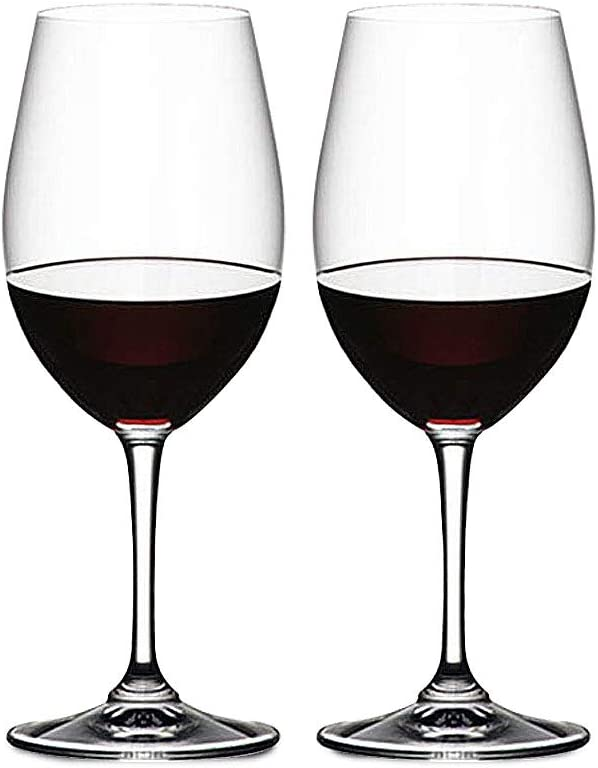 Modern 19 oz Wine Glass, Set of 2 Made from 100% Lead-Free Premium Crystal, Dishwasher Safe, Stemmed Wine Cups Shatterproof Recyclable and BPA-Free