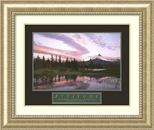 Framed Art Print 'Attitude: - Drive Lake Woodlands