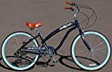 Cheap Anti-Rust / Light Weight Aluminum Alloy Frame! Fito Modena II Alloy 7-speed Women – Midnight Blue, 26″ Beach Cruiser Bike Bicycle, Shimano Equipped