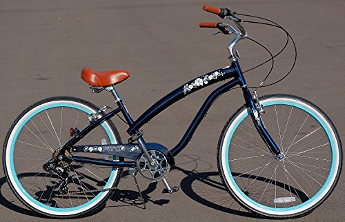 Cheap Anti-Rust aluminum Alloy Frame! Fito Modena II Alloy 7-speed Women – Mint Green, 26″ Beach Cruiser Bike Bicycle, Shimano Equipped