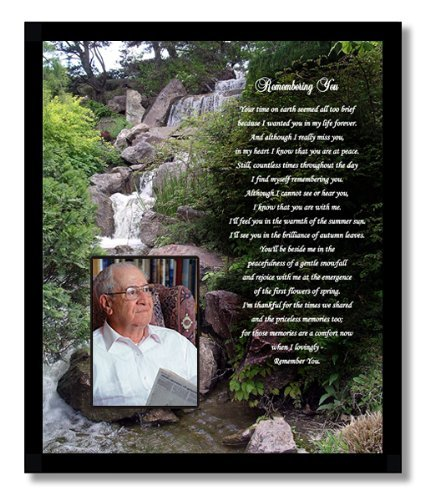 Sympathy Card for Him or Her – Family Adds Photo to Condolence Frame Gift