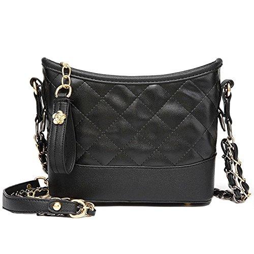Black Lady Simple Lingge Main Petit Sacs Chain Sac Bandoulière À Fashion Bag Corps Zllnsxkb Zdpx7gOqO