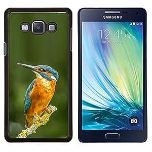 TECHCASE---Cubierta de la caja de protección para la piel dura ** Samsung Galaxy A7 ( A7000 ) ** --amarillo pájaro tropical rama verde azul
