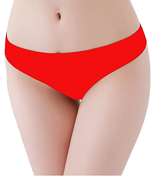 8a7747f52 Lola Dola Women s Cotton Lingerie Red Thong Panty  Amazon.in ...